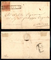 Antichi Stati Italiani - Lombardo Veneto - Como 3.1.51 (P.ti 4) - 15 Cent (3b - Rosso Carminio) Su Lettera Per Milano - Stamps