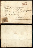 Antichi Stati Italiani - Lombardo Veneto - Dopo La Partenza (rosso - P.ti 4) + Monza (P.ti 3) - 30 Cent (7) Su Lettera P - Unclassified