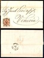 Antichi Stati Italiani - Lombardo Veneto - Valdobbiadene (P.ti 4) - 15 Cent (20) Su Lettera Per Venezia Del 21.8.57 - Gr - Stamps