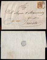 Antichi Stati Italiani - Lombardo Veneto - Da Venezia Col Vapore (P.ti 4) - 30 Cent (21) Su Lettera Per Trieste Del 26.4 - Stamps