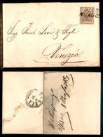 Antichi Stati Italiani - Lombardo Veneto - 30 Cent (21) Su Lettera Da Udine A Venezia Del 8.8.57 (140) - Stamps