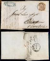 Antichi Stati Italiani - Lombardo Veneto - 30 Cent (21e) Con Sottile Linea (spazio Tipografico) In Alto A Sinistra - Let - Stamps