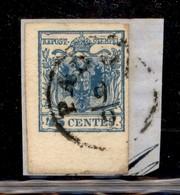 Antichi Stati Italiani - Lombardo Veneto - 1856 - 45 Cent (22) Bordo Foglio In Basso - Usato A Padova Su Frammento - Unclassified