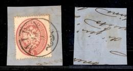 Antichi Stati Italiani - Lombardo Veneto - Mira (P.ti 5) - 5 Soldi (38) Usato Su Frammento (125+) - Stamps