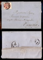 Antichi Stati Italiani - Lombardo Veneto - 5 Soldi (38) Su Lettera Da Treviso A Venezia Del 24.3.64 (150) - Stamps