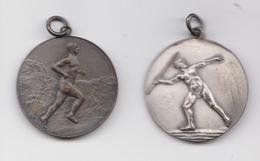 2 Médailles Sportives Fédération Sportive Rurale 1952 & 55 à Liège & à Aubel - Belgium