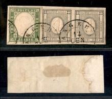 Antichi Stati Italiani - Lombardo Veneto - Angera 12/1 (P.ti 7) Su Sardegna (13Da) + Coppia Del 1 Cent (19) Su Frammento - Stamps