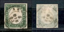Antichi Stati Italiani - Lombardo Veneto - Arcisate 6.6.63 (P.ti 8) Su 5 Cent (13Dc - Sardegna) - Stamps