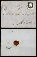 Antichi Stati Italiani - Lombardo Veneto - Bozzolo (P.ti 3) - Lettera Per Milano Del 21.9.60 Col 20 Cent (15C - Sardegna - Stamps