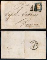 Antichi Stati Italiani - Lombardo Veneto - Brescia + 10 Di Tassa - 20 Cent (15Db - Sardegna) Su Lettera Per Venezia Del  - Stamps