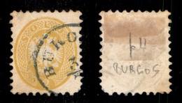 Antichi Stati Italiani - Lombardo Veneto - Burgas (azzurro - P.ti 10) - 2 Soldi (L 41) Usato Nel Levante - Difettoso In  - Stamps