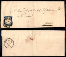 Antichi Stati Italiani - Lombardo Veneto - Casalpusterlengo (P.ti 3) - 20 Cent (15B) Su Lettera Per Milano Del 6.5.60 - Stamps