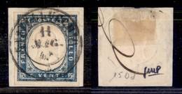 Antichi Stati Italiani - Lombardo Veneto - Castellucchio (P.ti 6) - 20 Cent (15Dd - Sardegna) Su Frammento - Stamps