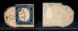 Antichi Stati Italiani - Lombardo Veneto - Collio 27.2.61 8P.ti 9) - 20 Cent (15C - Sardegna) Corto A Sinistra - Su Fram - Stamps