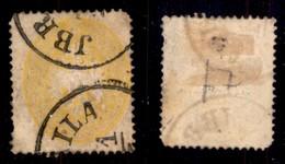 Antichi Stati Italiani - Lombardo Veneto - Jbraila (P.ti 6) - 2 Soldi (36L) Usato Nel Levante - Difettoso In Angolo - Stamps