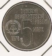 German Allemagne Alemanha 5 Mark, 1978  20th Anti-Apartheid Year 133 UNC MTG 196 000 - 5 Mark