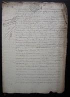 1741 Bail Par Antoine Augustin Thomas à Pierre Clairain Et Catherine Geneviève Dugiron, Ferme De Mermont (Crépy Oise) - Manuscripts