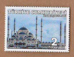 AC - TURKEY STAMP -  ISTANBUL CAMLICA MOSQUE MNH 10 June 2018 - 1921-... República