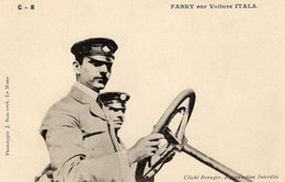 Grand Prix De La France 1906 - Circuit De La Sarthe - Maurice Fabry (F) Sur Voiture Itala   - CPA - Grand Prix / F1