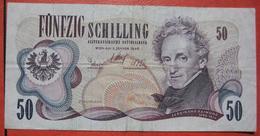 """50 Schilling 2.1.1970 (WPM 144) / Ferdinand Raimund - Burgtheater Wien """"2. Auflage"""" - Austria"""