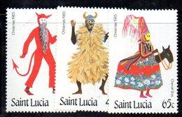 APR1551 - ST. LUCIA 1985 , Yvert Serie   N 791/793  ***  MNH  NATALE - St.Lucia (1979-...)