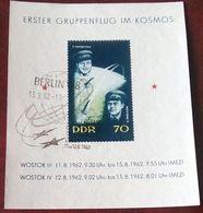 """DDR 1962: Michel-No. 917 = Block 17 """"ERSTER GRUPPENFLUG IM KOSMOS"""" Mit ET-o BERLIN 13.9.62 (Michel 6.00 Euro) - Raumfahrt"""