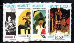 APR1553 - ST. LUCIA 1985 , Yvert Serie   N 779/782  ***  MNH - St.Lucia (1979-...)
