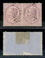 Uffici Postali All'Estero - Emissioni Generali - Alessandria - 234 A Punti Su Coppia Del 60 Cent (L21 - Regno) - Unclassified