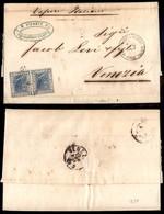 Uffici Postali All'Estero - Emissioni Generali - Alessandria D'Egitto (P.ti 5) - Coppia Del 20 Cent (26 - Regno) Su Lett - Unclassified
