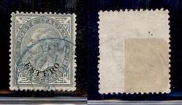 Uffici Postali All'Estero - Emissioni Generali - Muto A Rombi (leggermente Impresso) + Italie (doppio Cerchio) Entrambi  - Unclassified