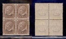 Uffici Postali All'Estero - Emissioni Generali - 1874 - 30 Cent (6) In Quartina - Gomma Integra - Unclassified