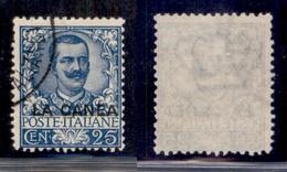 Uffici Postali All'Estero - La Canea - 1905 - 25 Cent Floreale (8) - Usato (40) - Unclassified