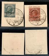Uffici Postali All'Estero - La Canea - Distaccamento Truppe Italiane In Creta 25.7.09 - 5 Cent (14) + 10 Cent (15) Usati - Unclassified