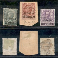 Uffici Postali All'Estero - Albania - 1907 - Soprastampati (7/9) - Serie Completa Usata - 20 Para Su Frammento (140) - Unclassified