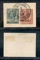 Uffici Postali All'Estero - Costantinopoli - 1908 - 10 (8) + 20 Para (9) Usati Su Frammento (180+) - Unclassified