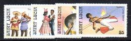 APR1554 - ST. LUCIA 1986 , Yvert Serie   N 844/847  ***  MNH - St.Lucia (1979-...)