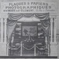 DOCTEUR CLEMENT PHOTOGRAPHIE PLAQUES PAPIERS PHOTOGRAPHIQUES STAND SALON DE L'AUTOMOBILE PUBLICITE PHOTO 1900's AD FOTO - Advertising