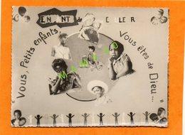 PHOTO - ENFANT DE COULEUR - VOUS PETITS ENFANTS VOUS ETES DE DIEU - 6 ENFANTS DE NATIONALITE DIFFERENTE - Personnes Anonymes