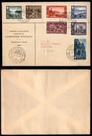 Emissioni Autonome - Campione - Busta Affrancata Con La Serie Paesaggi E Vedute (6/12) - Campione D'Italia 6.12.1950 - Stamps