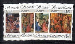 APR1556 - ST. LUCIA 1981 , Yvert Serie  N 555/558  ***  MNH NATALE CHRISTMAS - St.Lucia (1979-...)