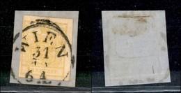 AUSTRIA - 1850 - 1 Kreuzer (1/I) - Su Frammento - Unclassified