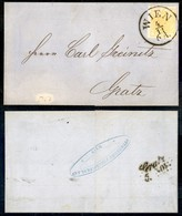 AUSTRIA - 1850 - 1 Kreuzer Giallo Cadmio - Lettera Da Vienna A Gratz - Unclassified