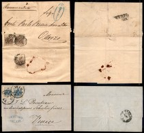 AUSTRIA - 1854/1858 - Raccomandata Da Trieste A Oderzo (4+4+4) + Lettera Da Vienna A Venezia (5+5) - Ottimo Insieme - Unclassified
