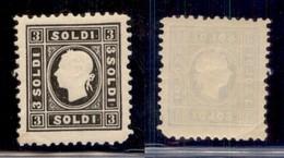 AUSTRIA - 1859 - Ristampe - 3 Soldi (11/II) - Gomma Integra - Unclassified