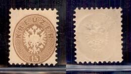 AUSTRIA - 1864 - 15 Kreuzer (34) - Gomma Integra - Unclassified