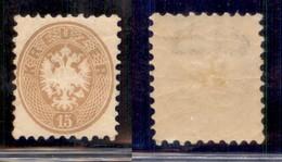 AUSTRIA - 1864 - 15 Kreuzer (34) - Gomma Integra (screpolata) - Parte Di Filigrana E - Unclassified