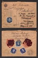AUSTRIA - Posta Da Campo - Busta Da Kragujevac A Feldpost 221 Del 17.8.16 - Due 2 Heller + Due 5 Heller (unif. 23+33) - Unclassified