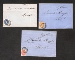 AUSTRIA - KK Filialpoststamp Marburg –  3 Lettere Affrancate Con 5 E 15 Kreuzer (Unif. 21+24+26) – Da Esaminare - Unclassified