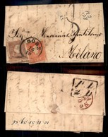 AUSTRIA - 10 Kreuzer (14/II) Con Parte Di Croce In Basso + 5 Kreuzer (13/II) - Letterina Da Gorz A Milano Del 16.10.59 - - Stamps