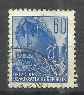 """DDR 377XI  """" Briefmarke Aus Der 5-Jahrplanserie Aus Satz, Geprüft"""". Gestempelt.Mi 12,00 - DDR"""